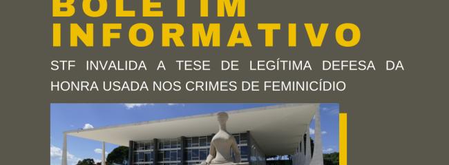 STF LEGITIMA DEFESA DA HONRA